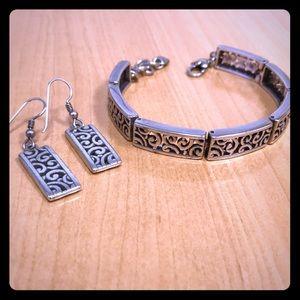 3 ITEMS! Brighton Scroll Bracelet & Earrings
